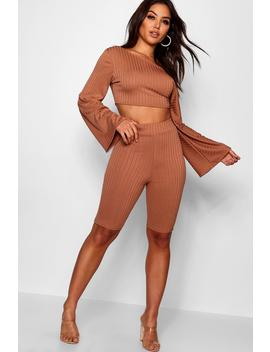 Off The Shoulder Cycling Short Co Ord Set by Boohoo