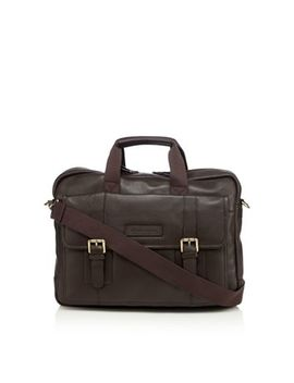 Rjr.John Rocha   Designer Dark Brown Soft Leather Business Bag by Rjr.John Rocha