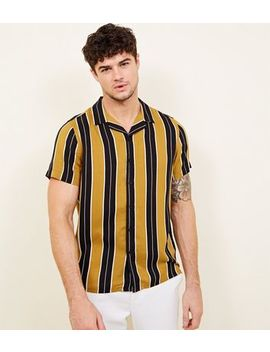 Yellow Stripe Short Sleeve Shirt by New Look