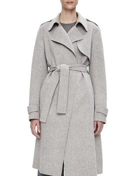 Nwot Cashmere Wool Blend Trench Pea Coat by Theory