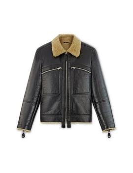 Cracked Shearling Jacket by Tom Ford