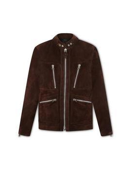 Suede Biker Field Jacket by Tom Ford