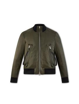 Leather Zip Bomber Jacket by Tom Ford