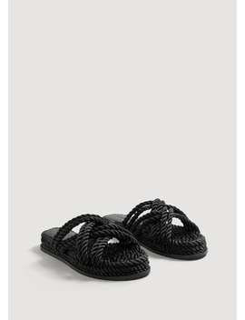 Sandały Splecione Sznurki by Mango