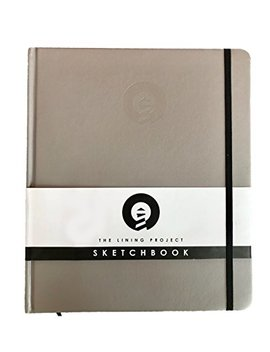 The Lining Project Premium Hardcover Sketchbook, Drawing Book, Sketch Pad, White Drawing Paper Medium, 200 Pages/100 Sheets Coloring Book, Drawing Pad, Large Sketchbook For Artist With 120 Gsm Paper by The Lining Project
