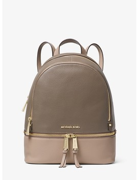Rhea Medium Color Block Pebbled Leather Backpack by Michael Michael Kors