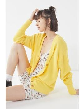 Uo Logan Yellow Button Through Cardigan by Urban Outfitters