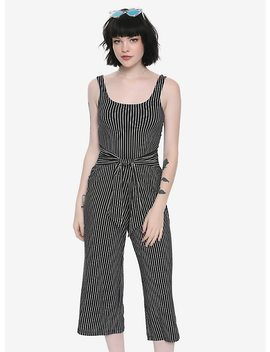 Black & White Striped Tie Jumpsuit by Hot Topic