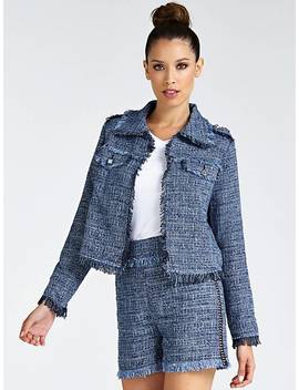 Tweed Look Jacket by Guess