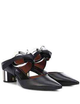 Leather Metal Ring Mules by Proenza Schouler