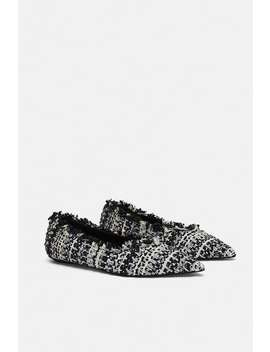 Tweed Flat Shoes  Shoeswoman by Zara