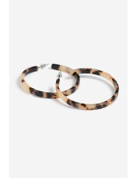 **Tortoiseshell Hoop Earrings by Topshop