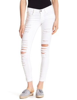 Distressed Skinny Jeans by Sp Black
