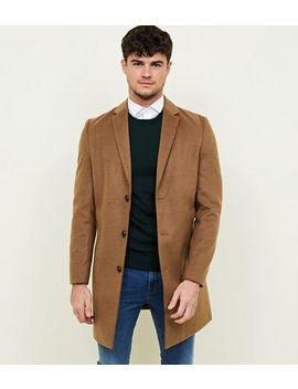 Camel Overcoat by New Look