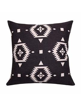 Breezy Life Aztec Throw Pillow Covers Geometric Decorative Pillow Cases Linen Square Cushion Covers For Sofa Couch Farmhouse Outdoor 22x22 Inches by Breezy Life