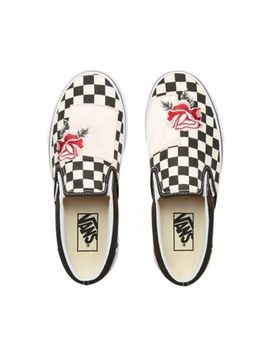 Satin Patchwork Classic Slip On Shoes by Vans