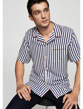 Camisa Regular Fit Rayas by Mango