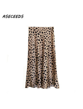 2018 Summer Vintage High Waist Skirt Leopard Print Skirts Womens Punk Rock Korean Style Boho Streetwear Jupe Femme by Aseceeds