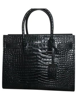 Sac De Jour Baby Crocodile Skin Leather Tote by Saint Laurent
