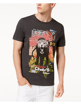 Men's Tiger Graphic T Shirt by Guess