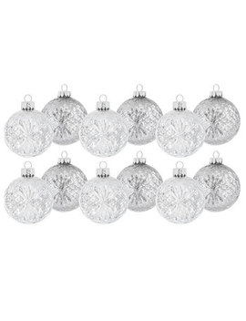 Silver Glitter Speckled Ball Ornaments by Hobby Lobby