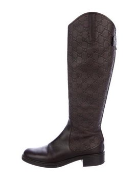 Gucci Guccissima Knee High Boots  by Gucci