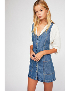 Pearl Denim Pinafore Dress by Free People