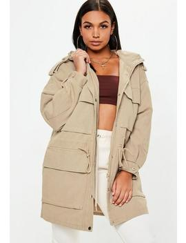 Sand Oversized Utility Jacket by Missguided