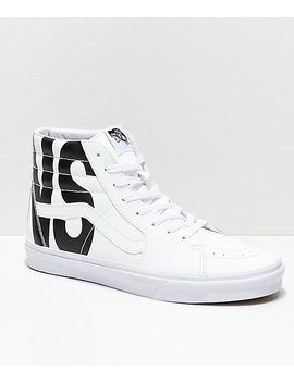 Vans Sk8 Hi Classic Tumble White Shoes by Vans