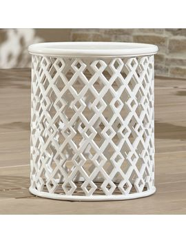 Lattice Diamond Small Side Table by Crate&Barrel