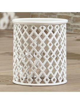Lattice Diamond Small Side Table by Crate&Barrel
