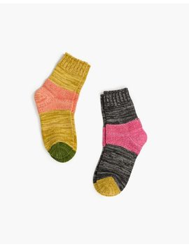 Hansel From Basel™ Two Pack Tonal Dapple Crew Socks by Madewell