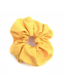 Scrunchie   Bright Yellow Plain Scrunchy Hair Accessories by Alice Rose Shop Au