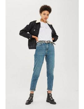 Moto Authentic Blue Mom Jeans by Topshop