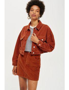 Rust Corduroy Jacket by Topshop