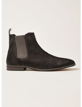Grey Suede Track Chelsea Boots by Topman