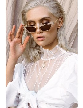 Transparent Cateye Sunglasses by Sabo Skirt