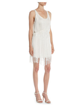 Grandeur Fringe Mini Cocktail Dress by Neiman Marcus