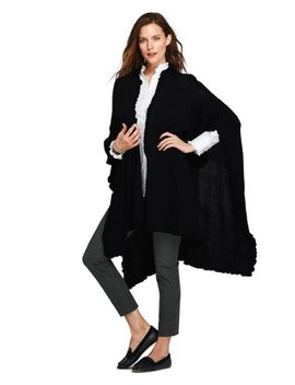 Women's Ruffle Shawl Wrap by Lands' End