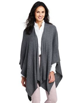 Women's Knit Shawl Wrap by Lands' End