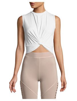 Xiamara Twist Front Sleeveless Crop Top by Cushnie Et Ochs