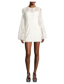 Spanish Dancer Lace Mini Dress by Neiman Marcus