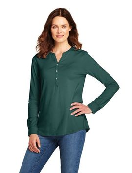 Women's Long Sleeve Button Cuff Tunic by Lands' End