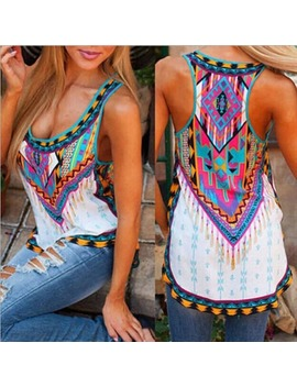 Azteca Tank Top In Colorful Vintage Print by Generic