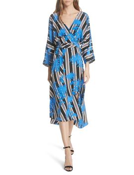 Eloise Silk Wrap Midi Dress by Dvf