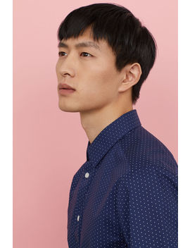 Slim Fit Poplin Shirt by H&M