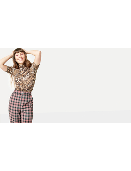 Red Charlie Check Zip Turnup Trouser by Nobody's Child