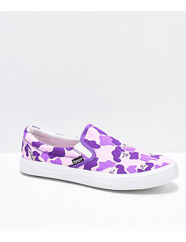 Ripndip Slip On Purple Nermal Camo Shoes by Ripndip