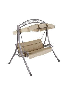 Cor Living Nantucket Patio Swing With Arched Canopy, Beige by Cor Living