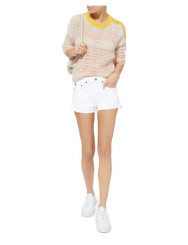 White Denim Shorts by Re/Done